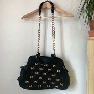 Betsey Johnson Chain Leather Purse
